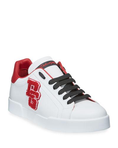 Men's Portofino Applique Leather Sneakers
