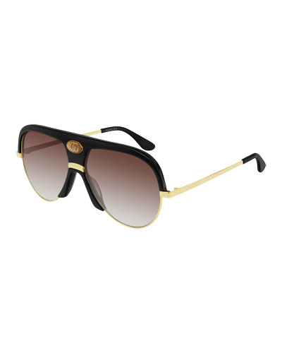 Men's Universal Fit Metal & Acetate Sunglasses