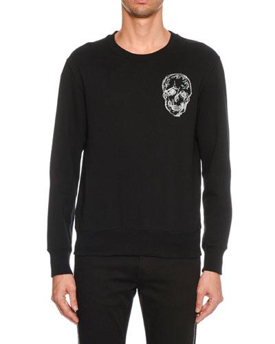Men's Embroidered Skull Sweatshirt