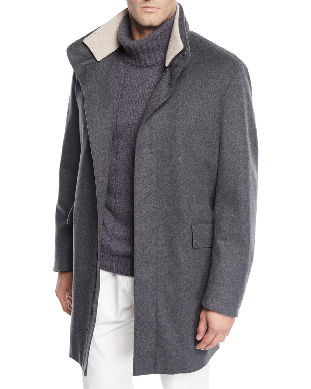 Loro Piana Coats MEN'S WINTER CASHMERE COAT