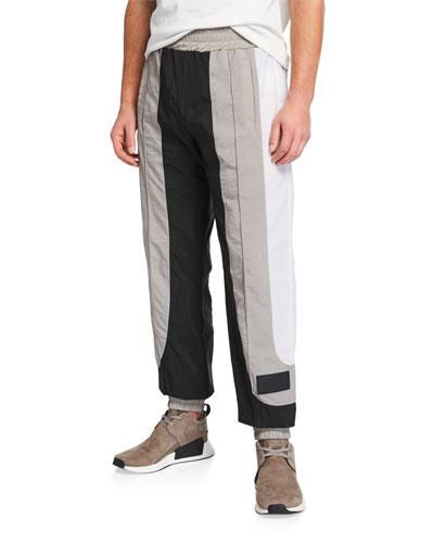 Men's Colorblock Nylon Track Pants