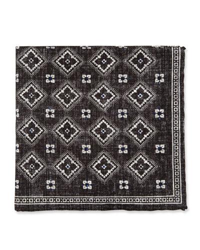 Diamond-Pattern Pocket Square