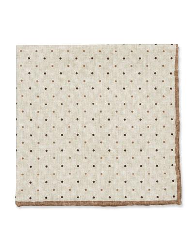 Brunello Cucinelli Reversible Silk Pocket Square