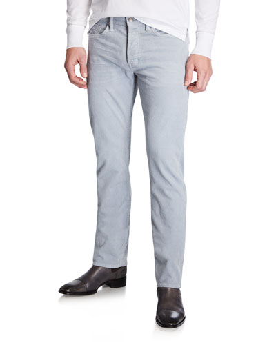 Men's 5-Pocket Straight-Leg Corduroy Pants