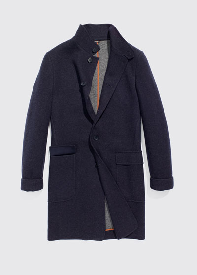 Men's Cashmere Sweater Coat