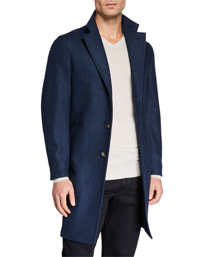 Men's Sartorial Tonal Plaid Coat