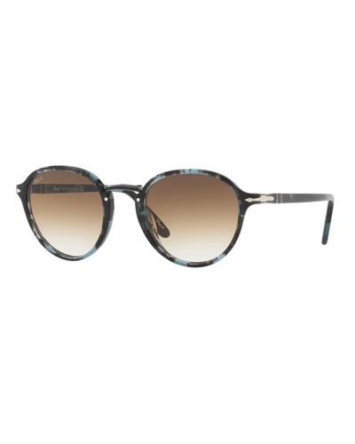 13b911ef643 Men s Round Tortoiseshell Acetate Sunglasses