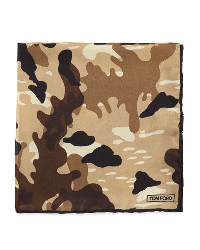 Camouflage Silk Pocket Square
