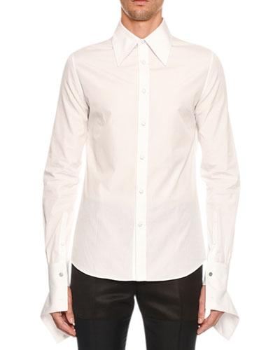 Men's Zipper-Cuff Sport Shirt