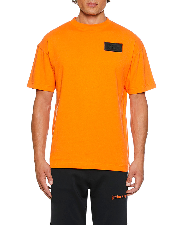 Palm Angels T-shirts MEN'S LOGO PATCHED T-SHIRT