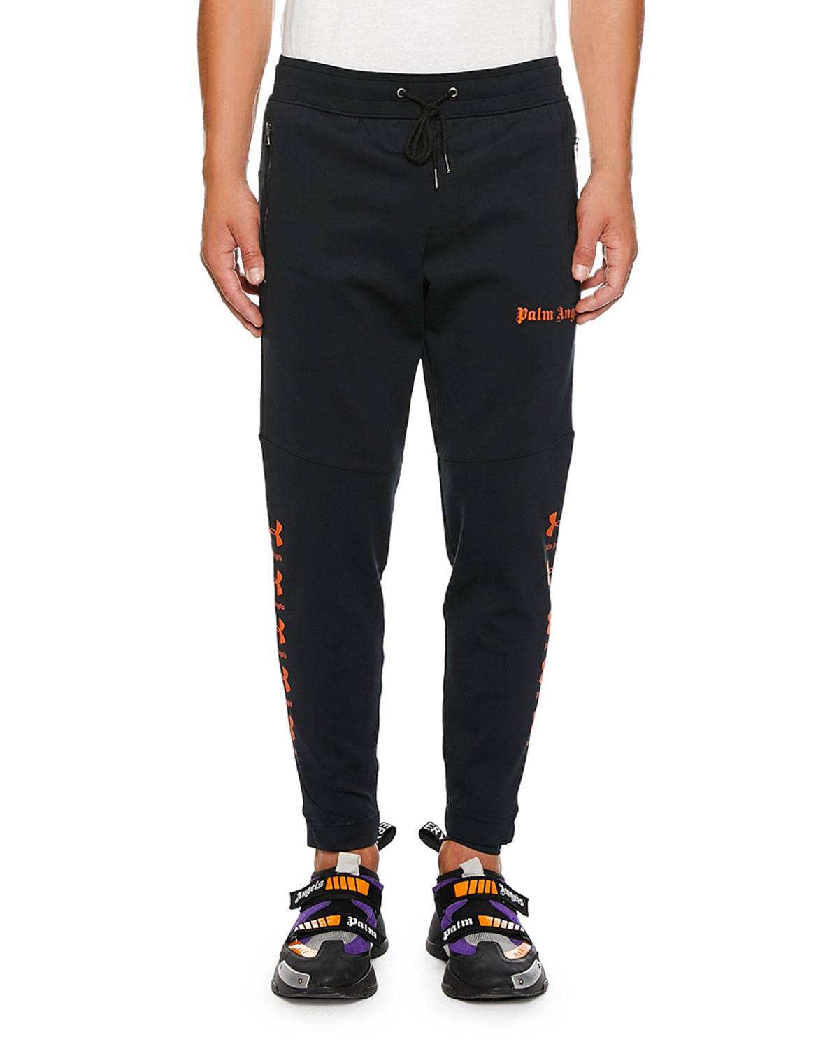 Palm Angels Tops MEN'S UA SLIM LOGO JOGGERS