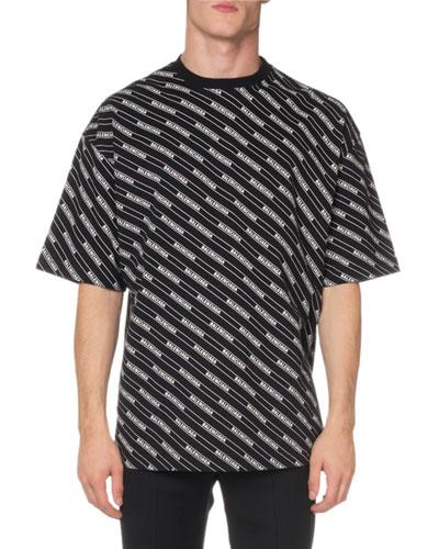 Men's Short-Sleeve Allover Stripe T-Shirt