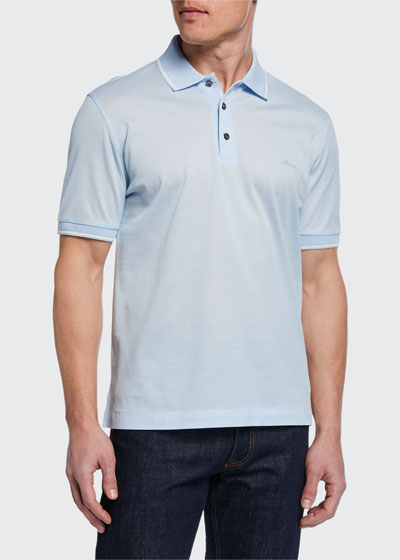 Men's Tipped Pique Polo Shirt