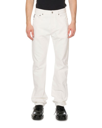 Men's Standard Fit Jeans, White