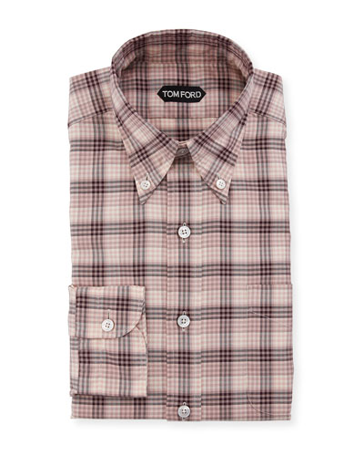 Men's Plaid Button Down Sport Shirt
