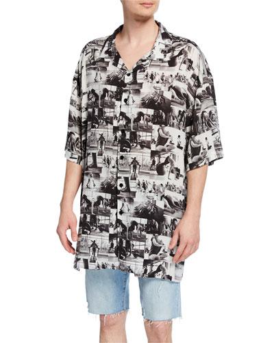 Men's Active Photos Short-Sleeve Sport Shirt