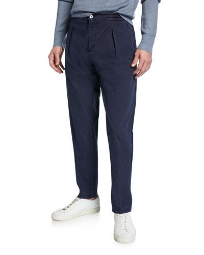 Men's Solid Seersucker Pants, Blue