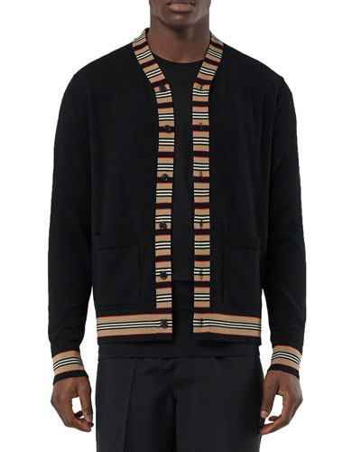 Men's Walter Striped-Trim Cardigan