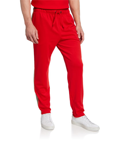 Men's Sorrento Drawstring-Waist Pants, Bright Red