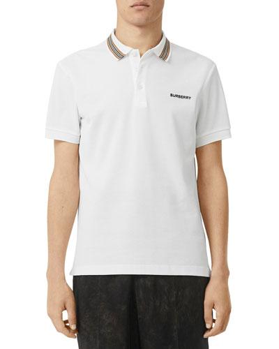 Men's Johnston Contrast-Trim Polo Shirt
