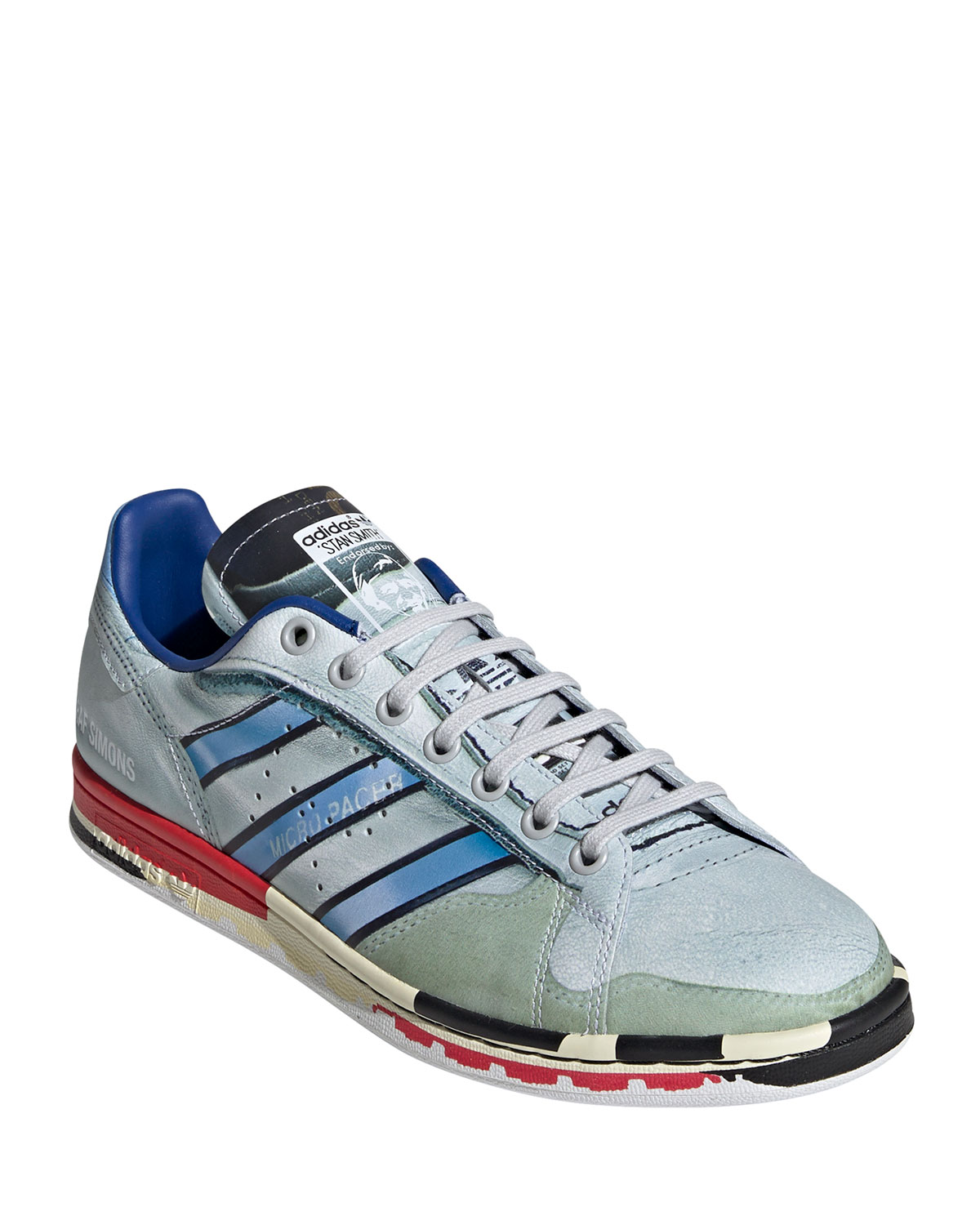 Adidas By Raf Simons Sneakers MEN'S MICRO STAN SMITH PRINTED LEATHER SNEAKERS