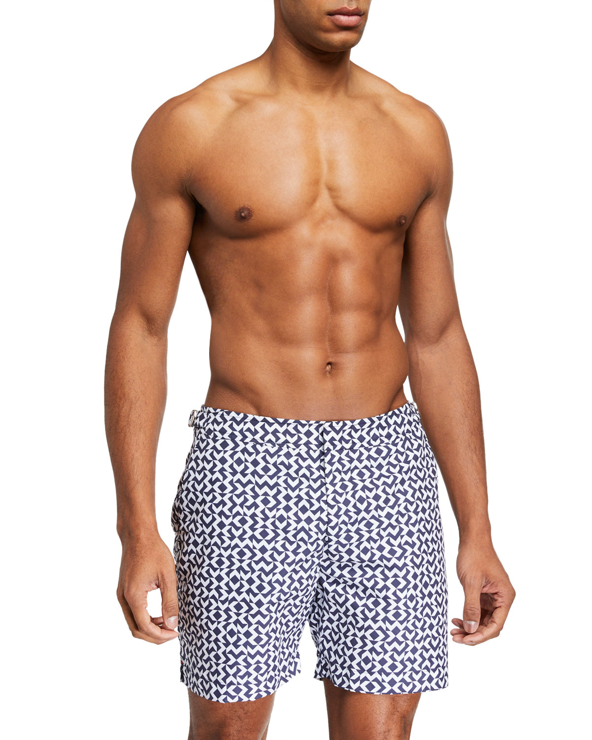 Orlebar Brown Pants MEN'S BULLDOG FRECCE GRAPHIC SWIM TRUNKS