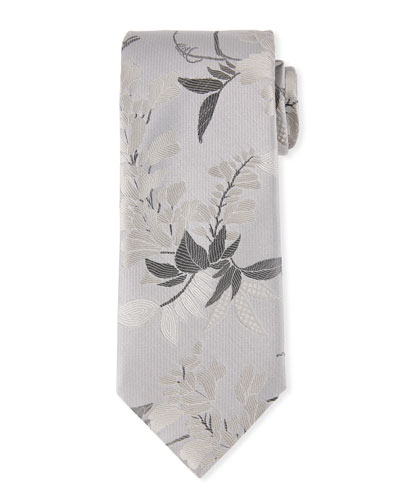 Multi-Flowers Silk Tie