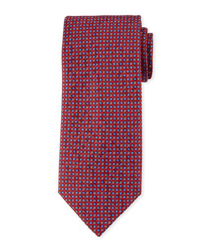 Small Circles Silk Tie