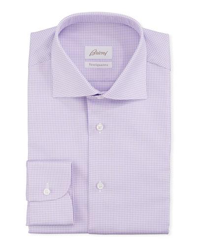Men's Ventiquattro Check Dress Shirt