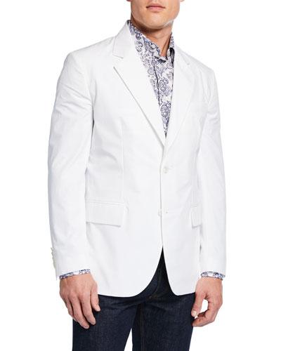 Men's Two-Button Cotton Jacket