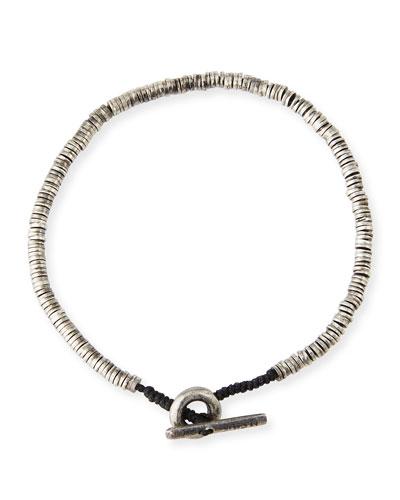Men's Mini Sterling Silver Disc Bracelet