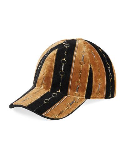 4b45656830cb60 Men's Printed Chenille Baseball Hat Quick Look. Gucci