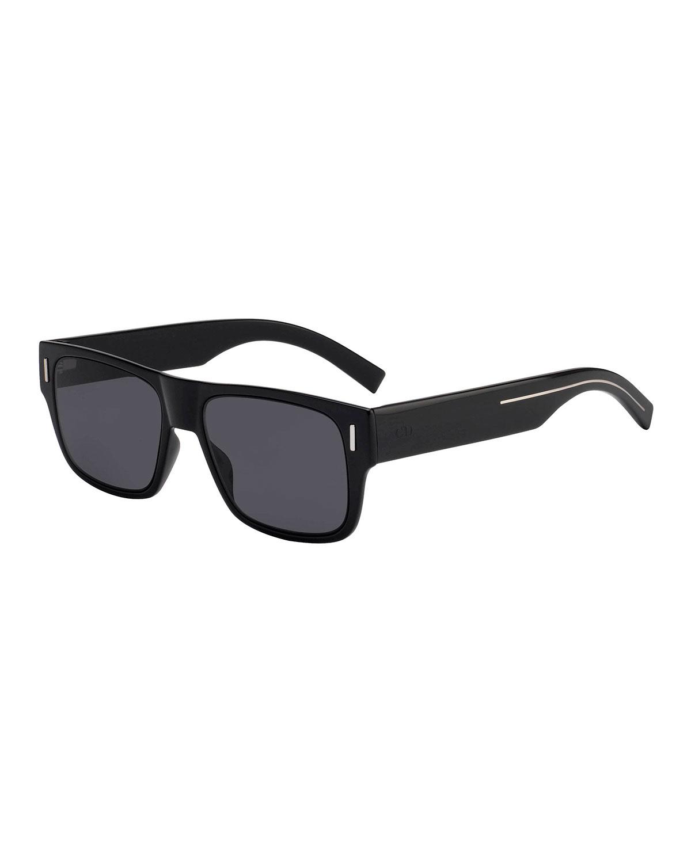 Dior Sunglasses MEN'S FRACTION 4 FLAT-TOP NYLON SUNGLASSES