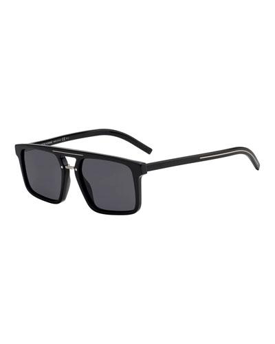 069da054ed2 Men s Black Tie Acetate Sunglasses with Metal Bridge