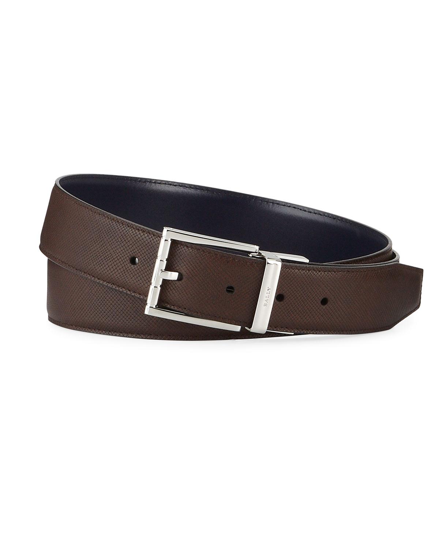 Bally Astor Reversible Leather Belt In Multi