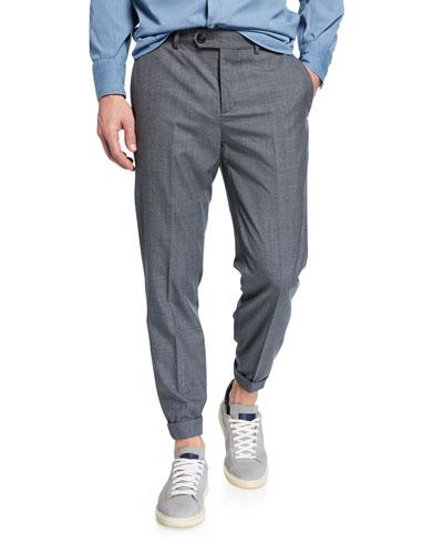 e4adeb60bdb Men s Lightweight Wool Flat-Front Pants