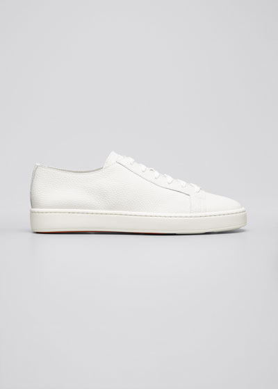Men's Clean Iconic Leather Low-Top Sneakers