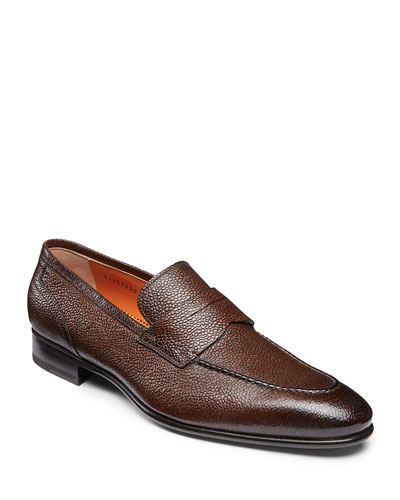 Men's Felipe Leather Penny Loafers