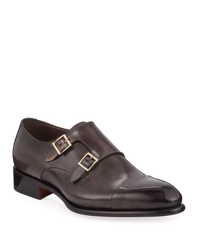 Men's Ira Leather Double-Monk Loafers