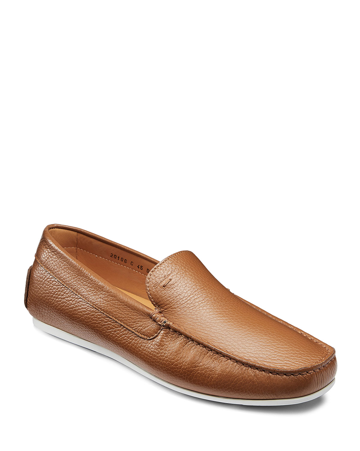 Santoni Shoes MEN'S WELLINGTON DRIVERS, LIGHT BROWN