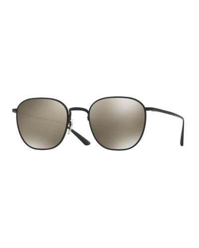 Men's Board Meeting Square Titanium Sunglasses