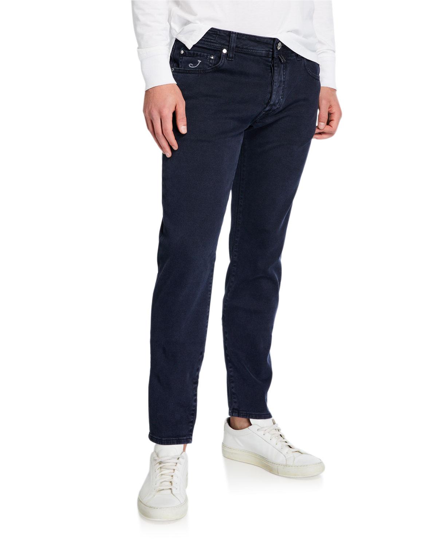Jacob Cohen Jeans MEN'S DARK-WASH TAPERED JEANS
