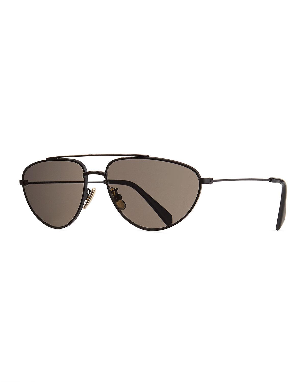 Celine Sunglasses MEN'S METAL PILOT SUNGLASSES, BLACK
