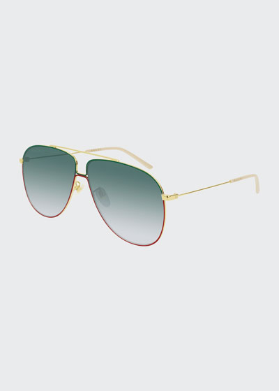 a55e61cac51 Men s Gradient Aviator Sunglasses Quick Look. Gucci
