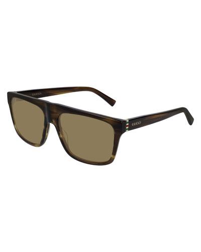 Men's Nylon Flat-Top Sunglasses