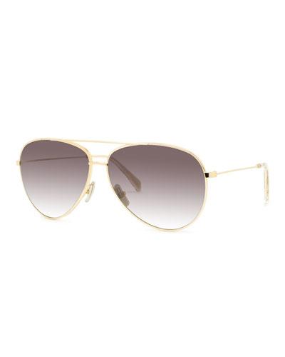 Men's Aviator Gradient Sunglasses