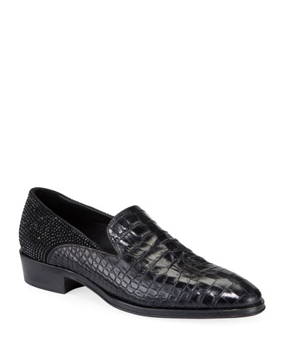Men's Seattle Embossed Leather Slip-On Loafers