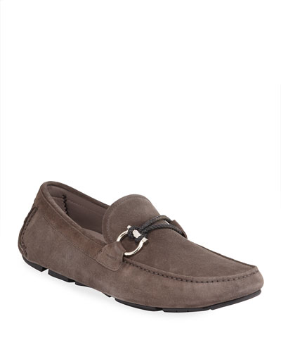 Men's Front 4 Suede Gancio Drivers with Braided Keeper