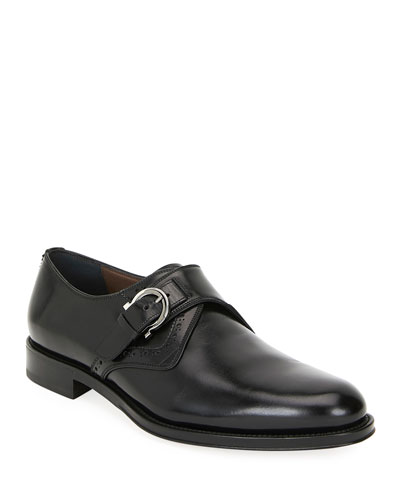 Men's Tobias Monk-Strap Gancio Loafers