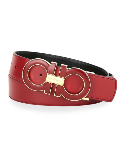 Men's Oversized Reversible Gancini Belt